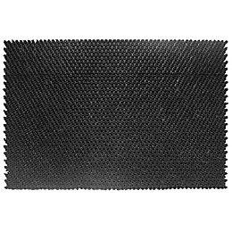 Diall Black Rubber Door Mat (L)400mm (W)600mm