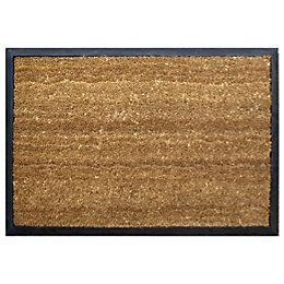 Diall Black & Natural Coir Door Mat (L)450mm