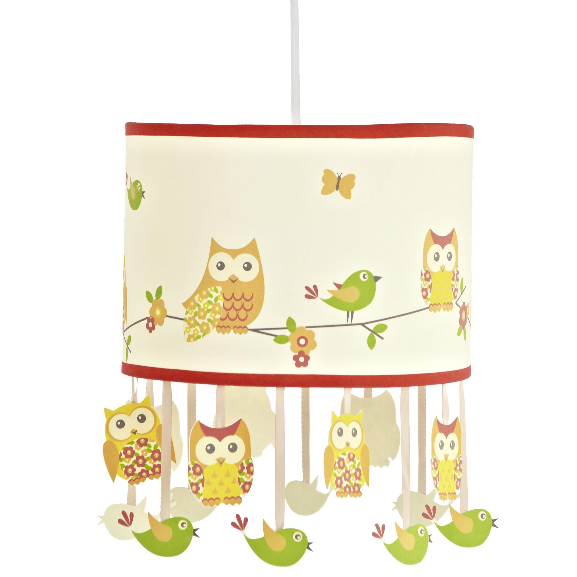 Colours Oratory Multicolour Owl Design Light Shade  D 25cm. Children s Light Shade   DIY