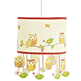 Colours Oratory Multicolour Owl Design Light Shade (D)25cm