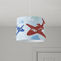 Colours Revolutio Blue Airplane Light Shade (D)25cm