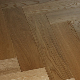 Colours Everetti Herringbone Natural Oak Real Wood Top
