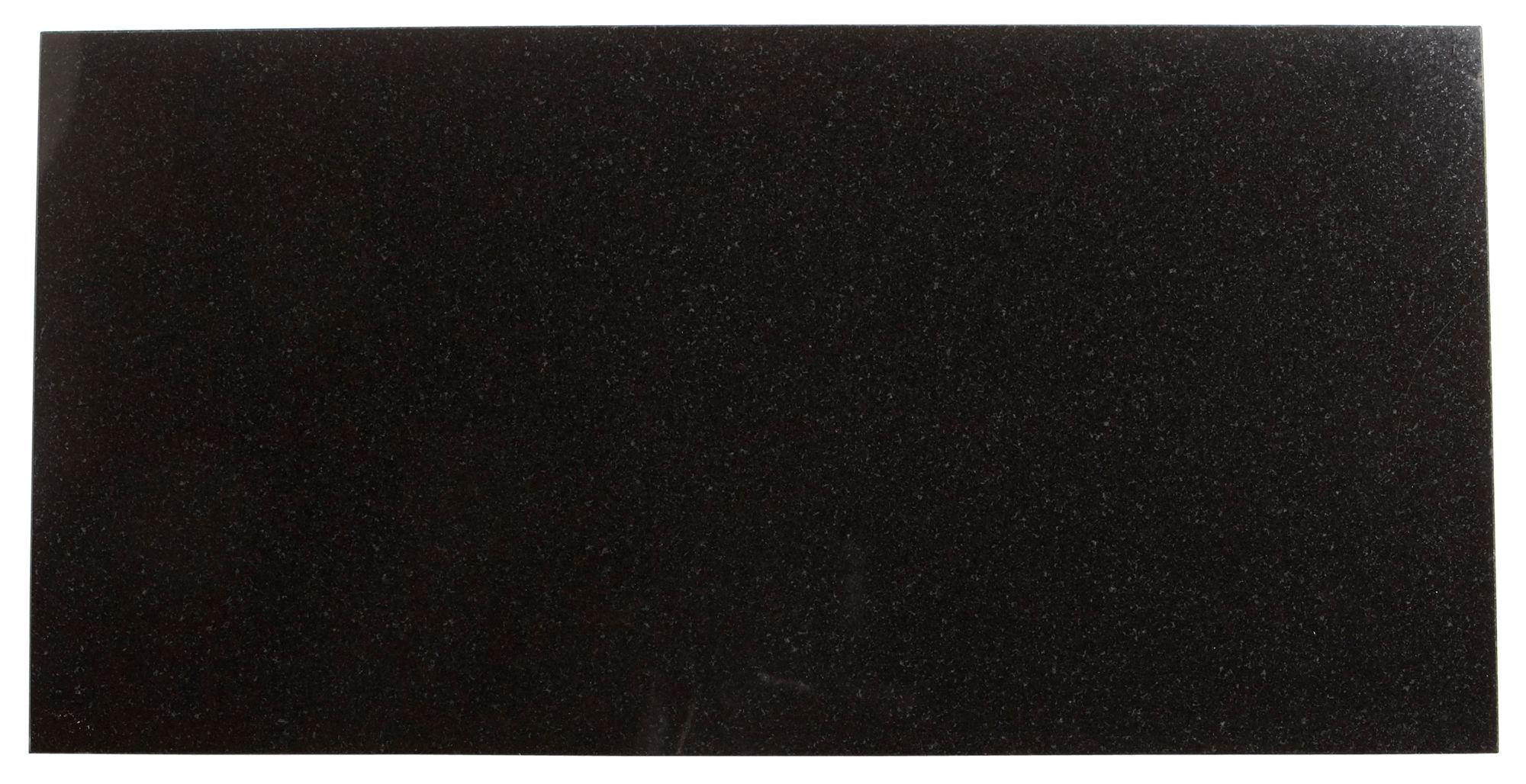 Black Stone Effect Granite Wall & Floor Tile, Pack Of 5, (l)610mm (w)305mm