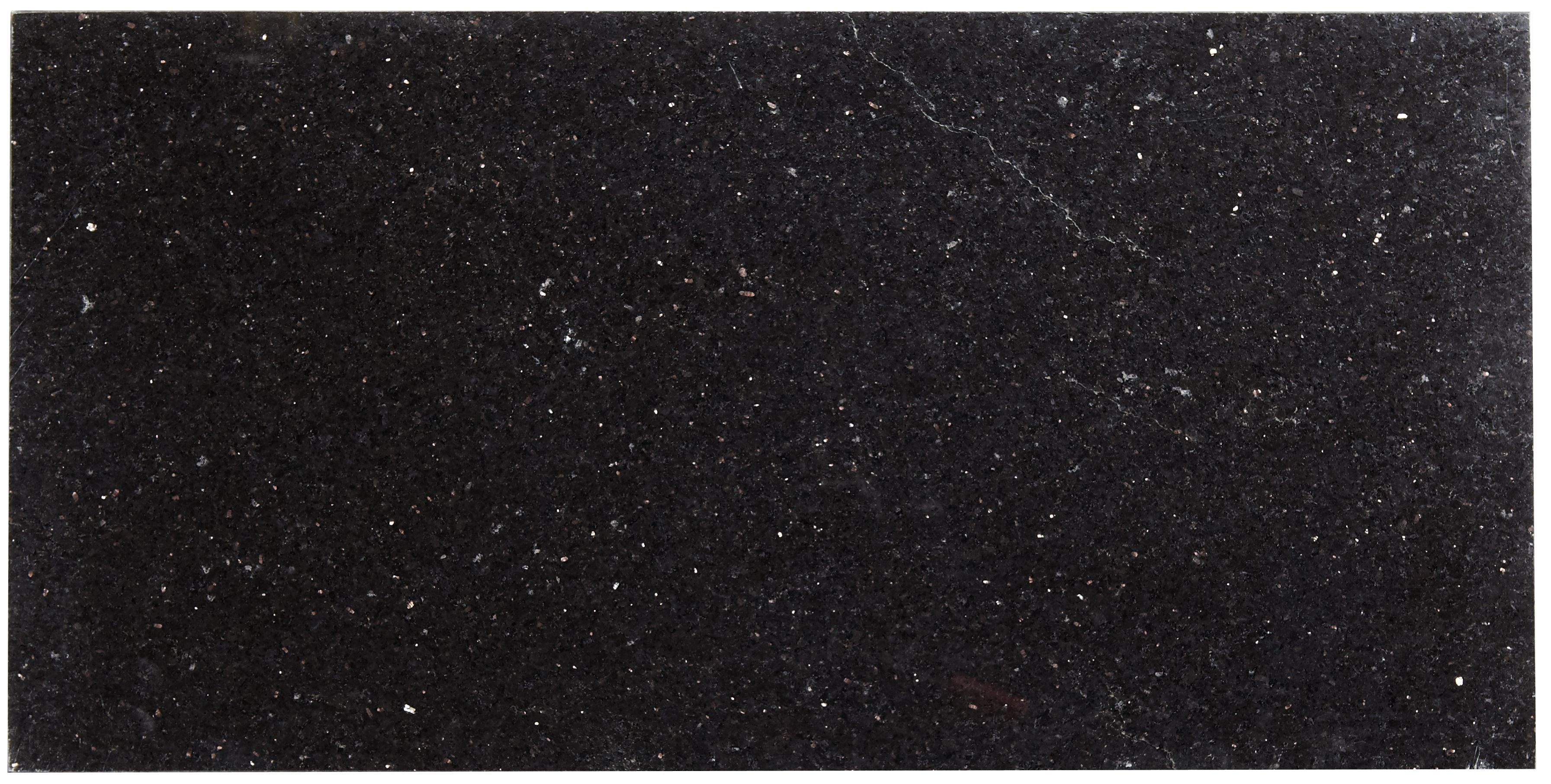 Galaxy Black Stone Effect Granite Wall & Floor Tile, Pack of 5, (L)610mm (W)305mm | Departments ...