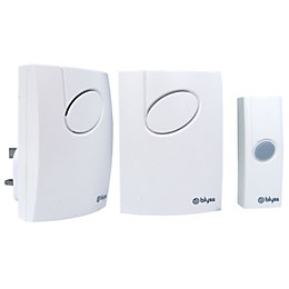 Blyss Wirefree White Portable & Plug-In Door Bell