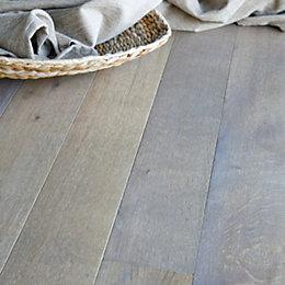 Colours Rondo Dove Grey Solid Oak Flooring Sample