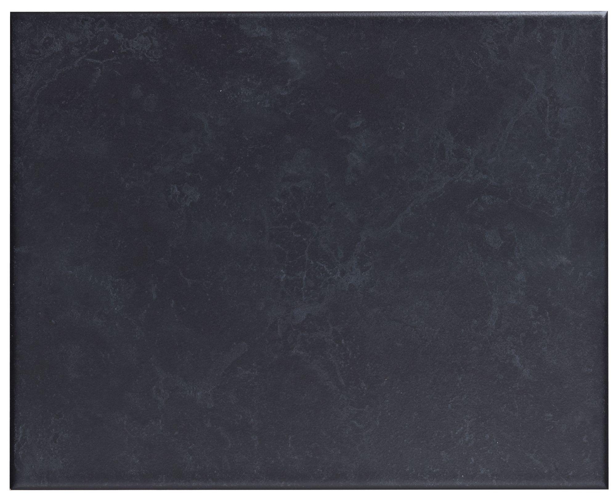Helena Black Ceramic Wall Tile, Pack Of 20, (l)250mm (w)200mm