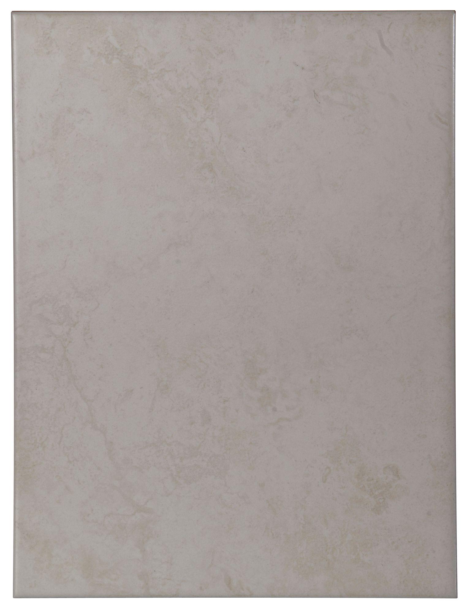 Helena Light Beige Ceramic Wall Tile, Pack Of 12, (l)330mm (w)250mm