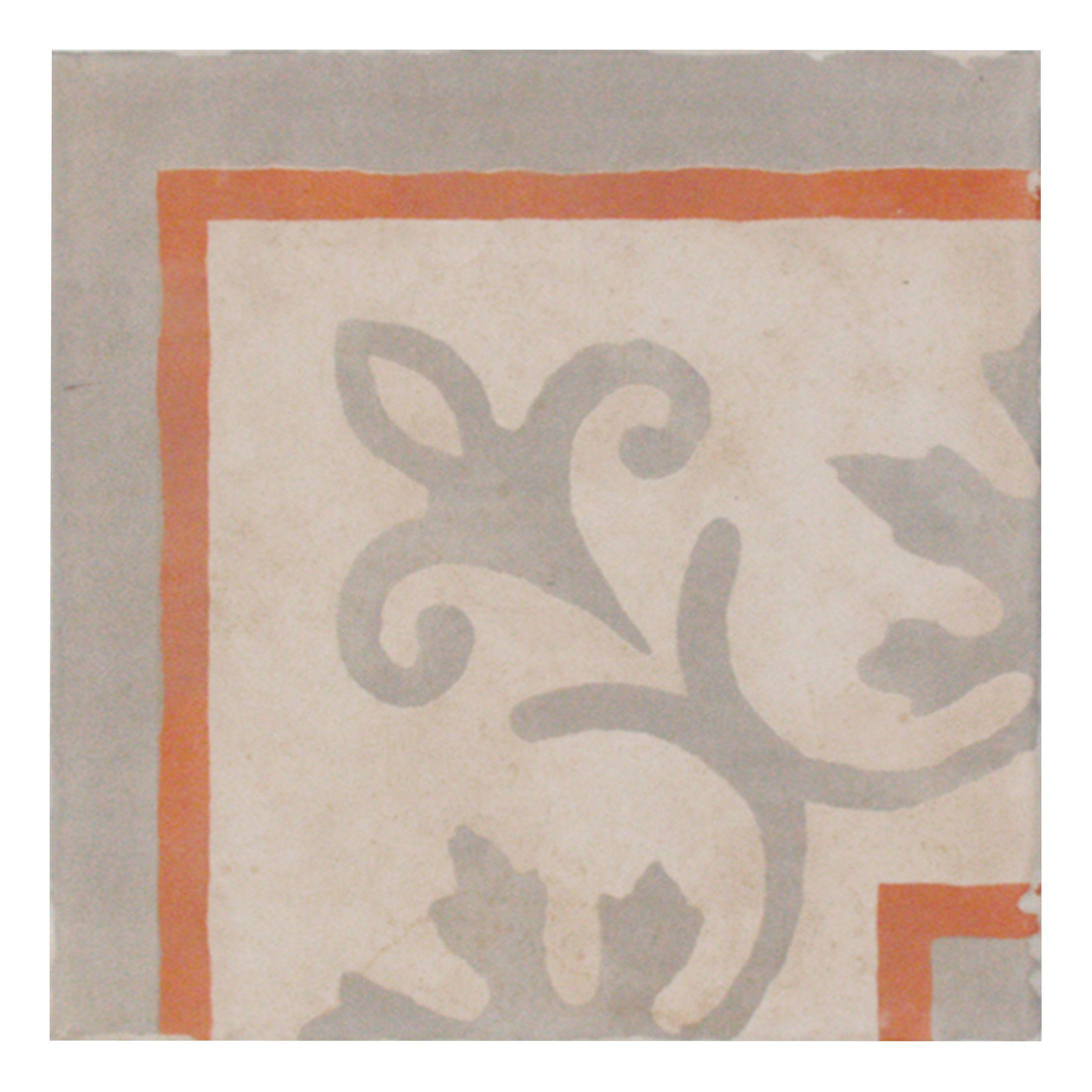 1930s red mosaic glazed porcelain wall floor tile pack for 1930s tile floor