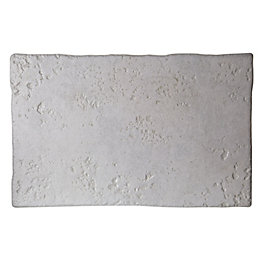 Abbaye Cream Porcelain Floor Tile, Pack of 8,