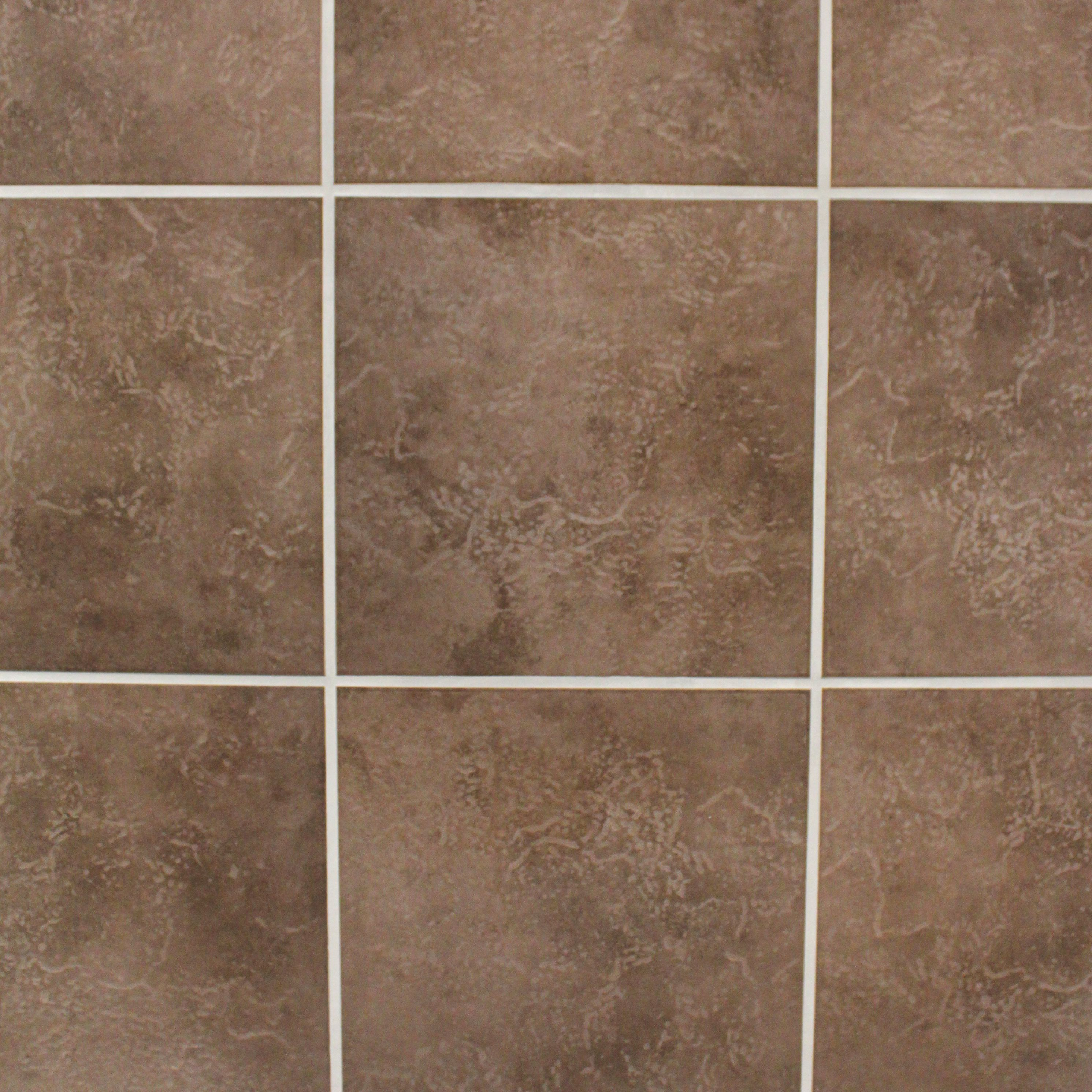 Cirque Chocolate Ceramic Floor Tile Pack Of 9 L 330mm