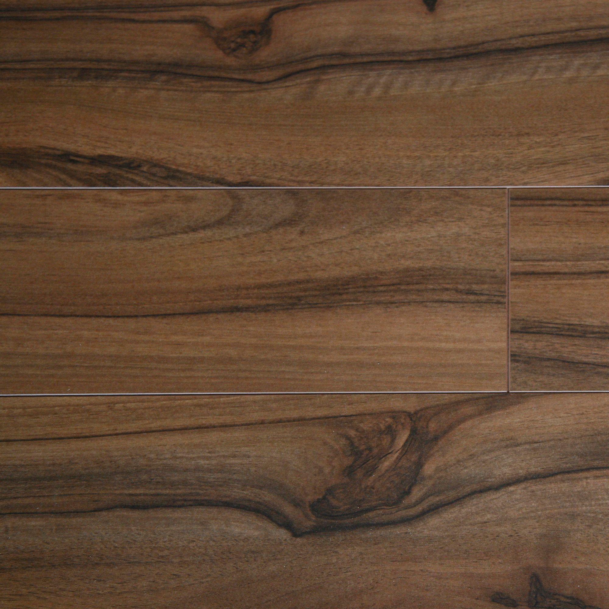 Scherzo natural dark walnut effect laminate flooring for Laminate flooring examples