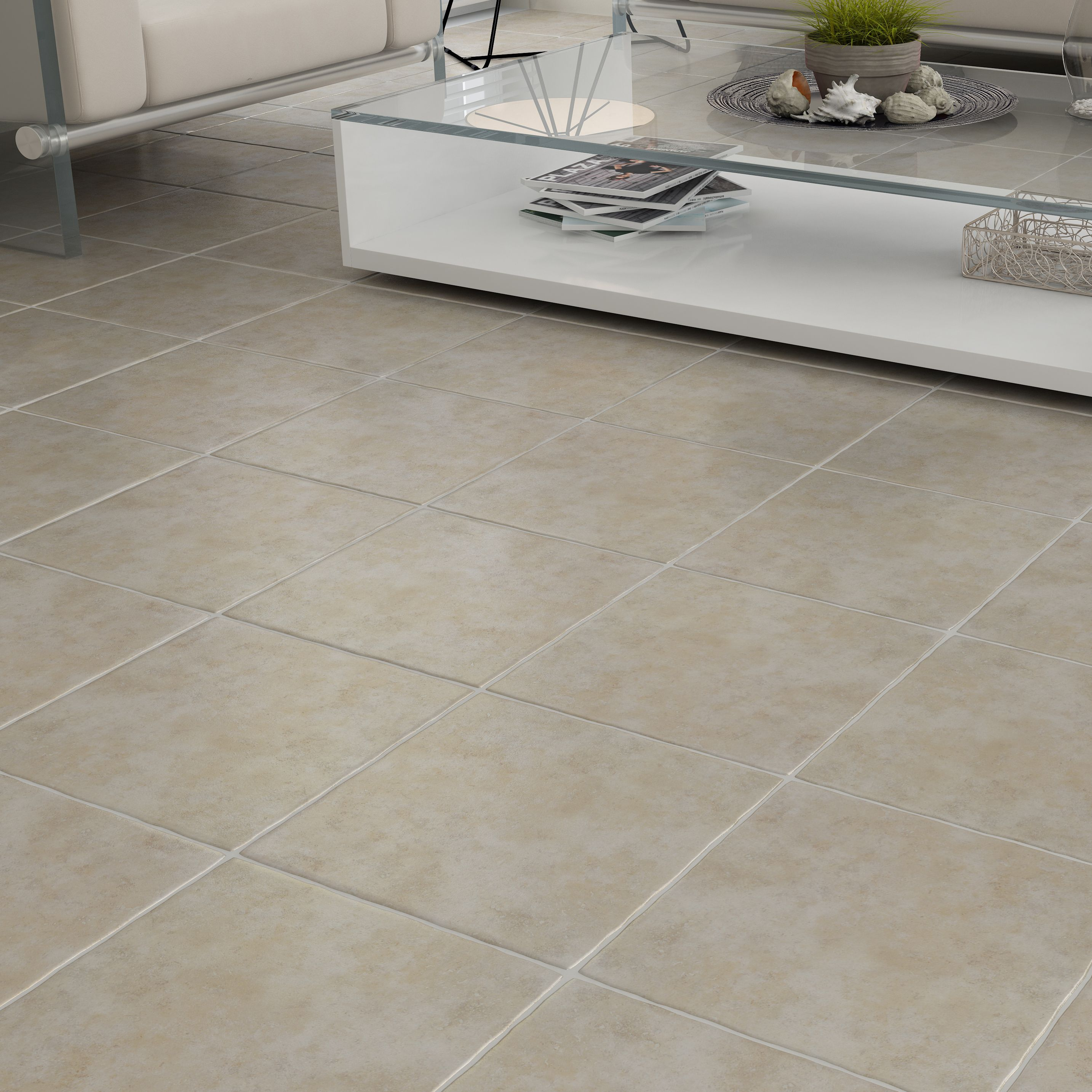 calcuta natural stone effect ceramic floor tile pack of 9 l330mm