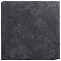 Calcuta Black Ceramic Floor Tile, Pack of 9,