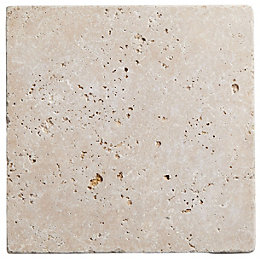 Tumbled Light Beige Travertine Wall & Floor Tile,