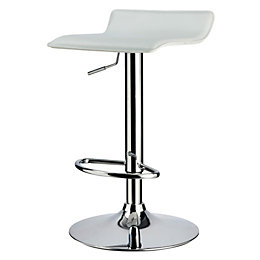 Dante Modern White Bar Stool (H)850mm (W)415mm (D)380mm