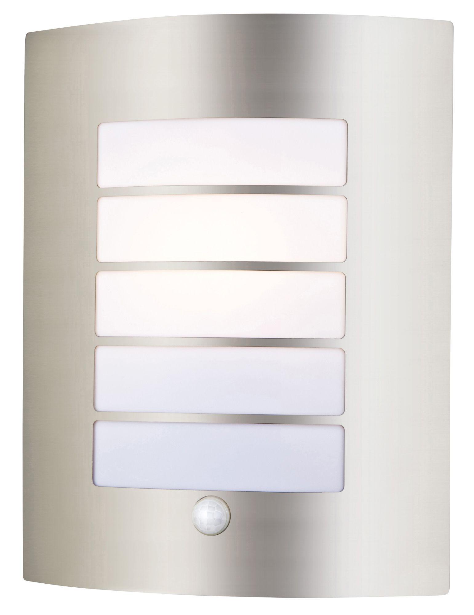 Blooma Tuscana Stainless Steel 40w Mains Powered External Pir Wall Light
