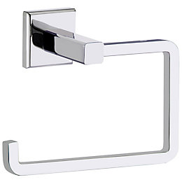 Cooke & Lewis Linear Chrome Effect Toilet Roll