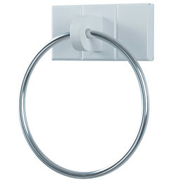 Cooke & Lewis Adelite Chrome Effect Towel Ring,