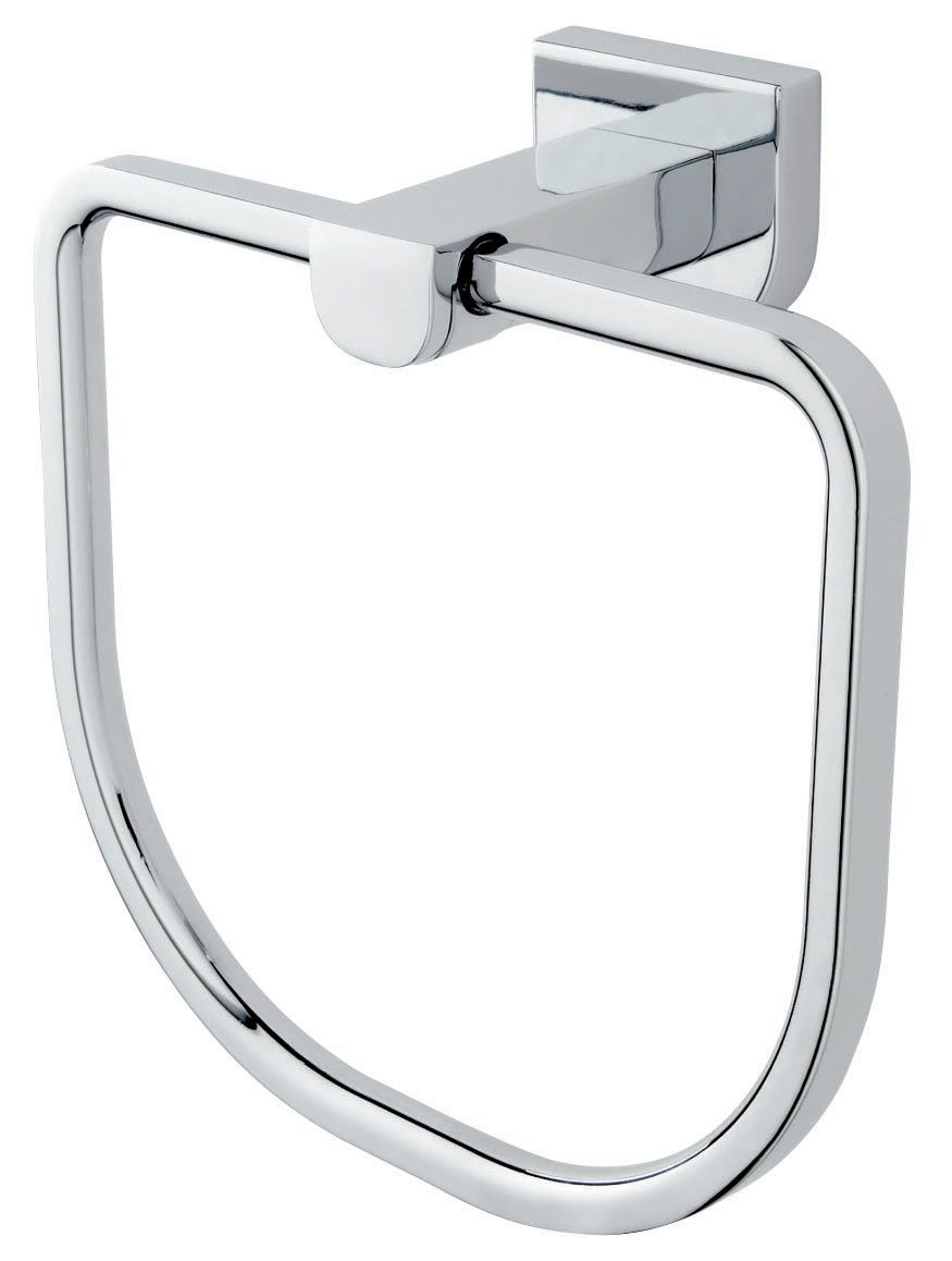Cooke and lewis bathroom mirrors - Cooke Lewis Axis Chrome Effect Towel Ring W 165mm Departments Diy At B Q