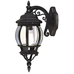 Blooma Canterbury Black Mains Powered External Wall Lantern