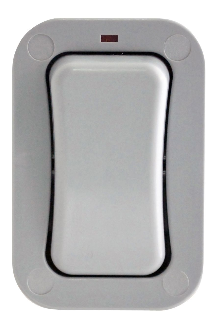 Diall 1 Gang 2 Way 20a External Single Outdoor Switch