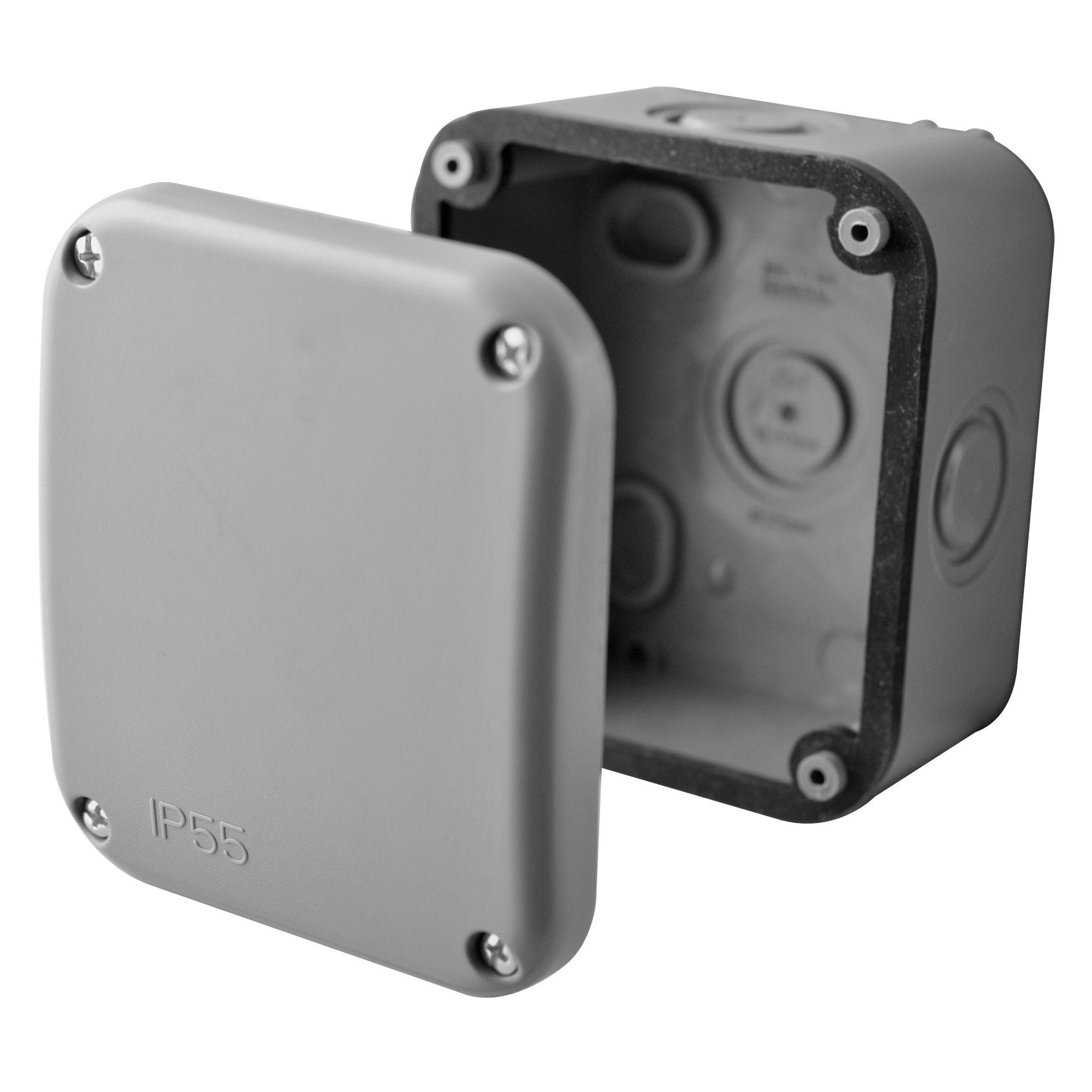 Diall Grey Junction Box | Departments | DIY at B&Q