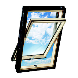 Luna Pine Centre Pivot Roof Window (H)980mm (W)740mm