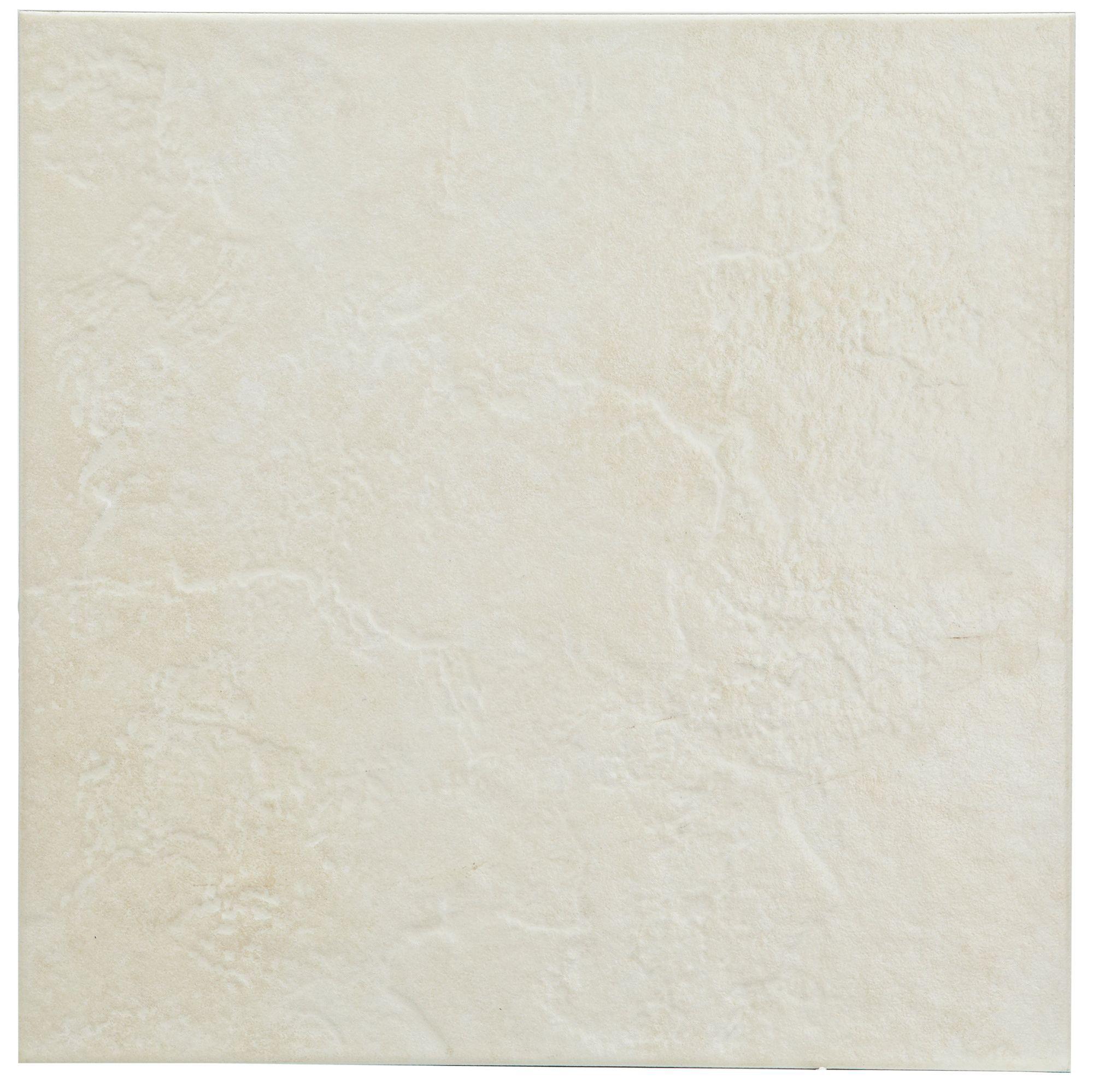 Cirque Beige Stone Effect Ceramic Floor Tile, Pack Of 9, (l)333mm (w)333mm