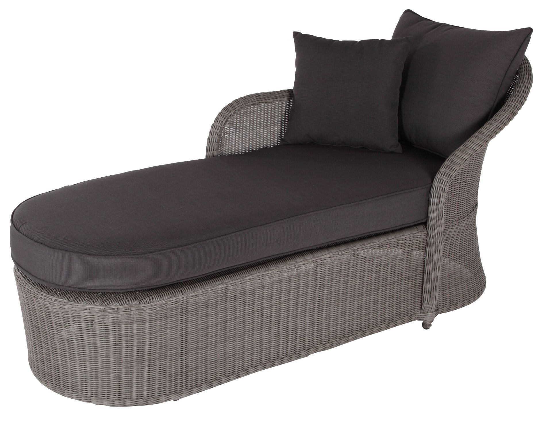 . Comoro Rattan Effect Sunlounger   Departments   DIY at B Q