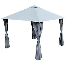 Blooma Shamal Grey Gazebo
