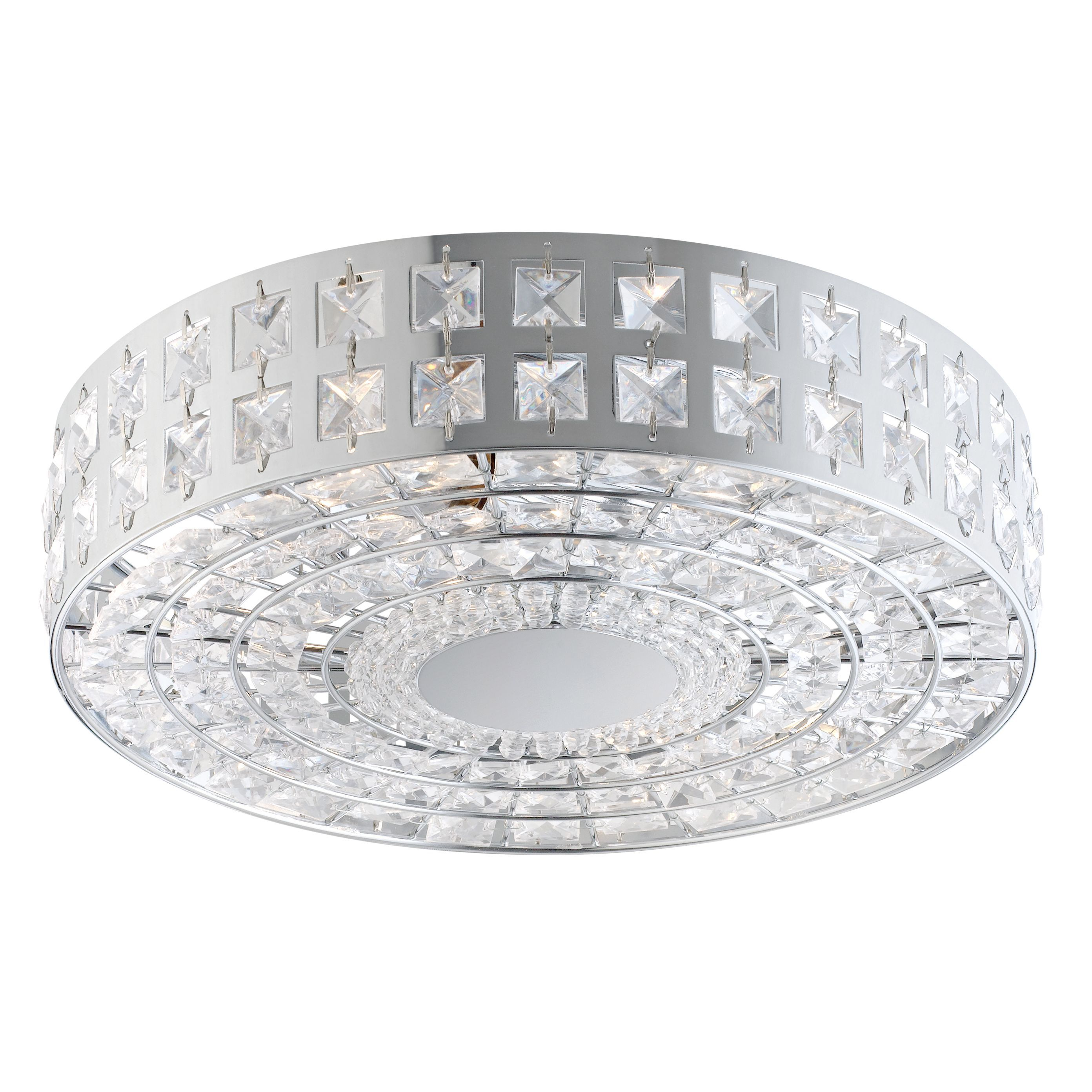 Bathroom Ceiling Lights At B&Q palena jewelled silver 2 lamp ceiling light | departments | diy at b&q