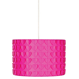 Colours Peppi Pink Heart Light Shade (D)30cm