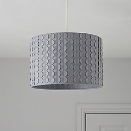 Colours Luta Grey Dotty Light Shade (D)30cm