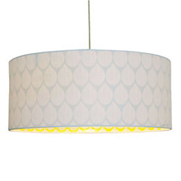 Colours Indio White Droplet Inner Pattern Light Shade