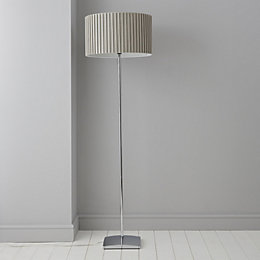 Alita Silver Chrome Effect Floor Lamp