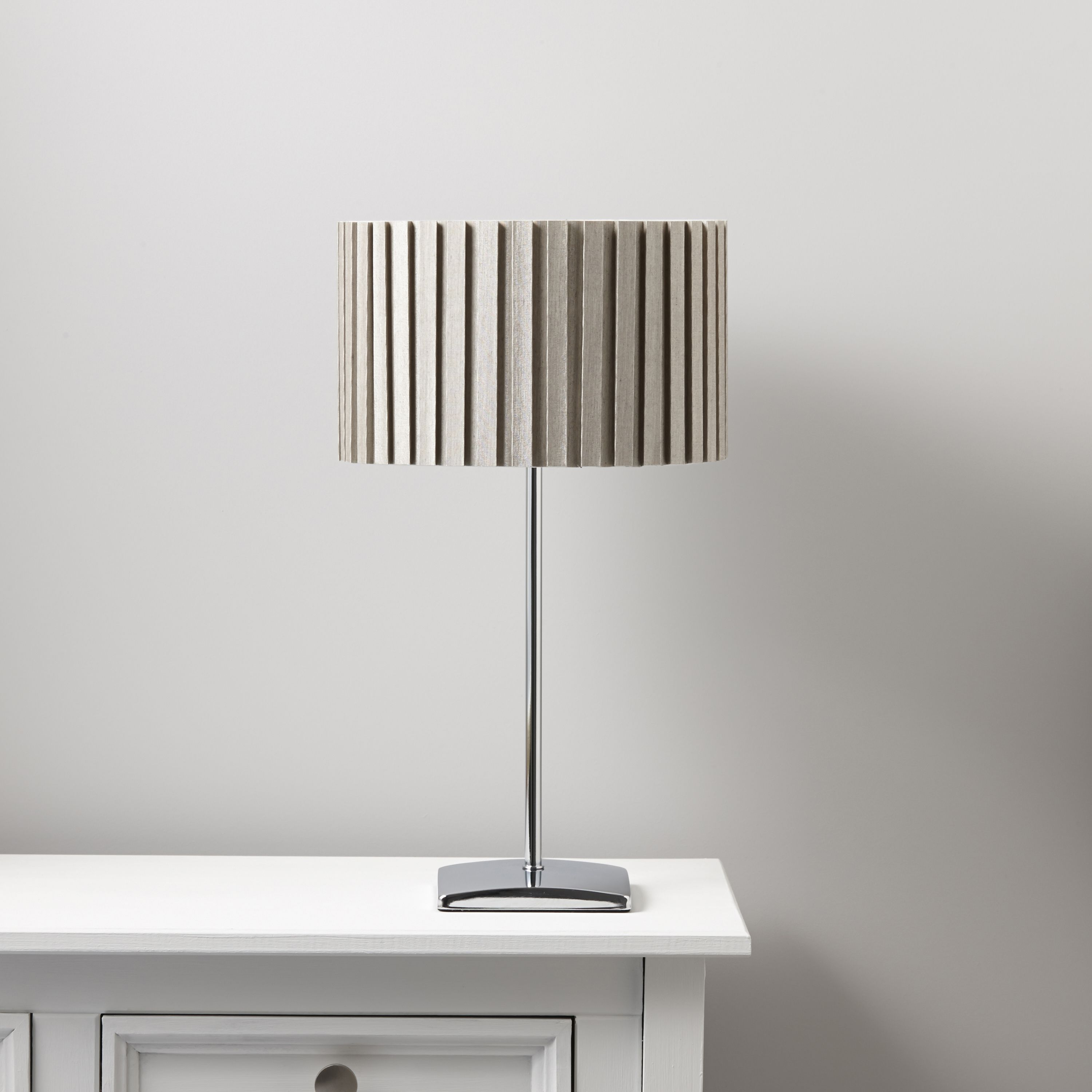 Matching floor and table lamps - Alita Chrome Effect Table Lamp