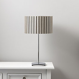 Alita Grey Chrome Effect Table Lamp