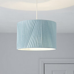 Colours Lainie Blue V-Pleat Light Shade (D)30cm
