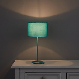 Alexa Curl Base Sky Blue Table Lamp