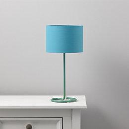 Alexa Curl Base Sky Blue Table Lamp