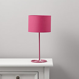 Alexa Curl Base Pink Table Lamp
