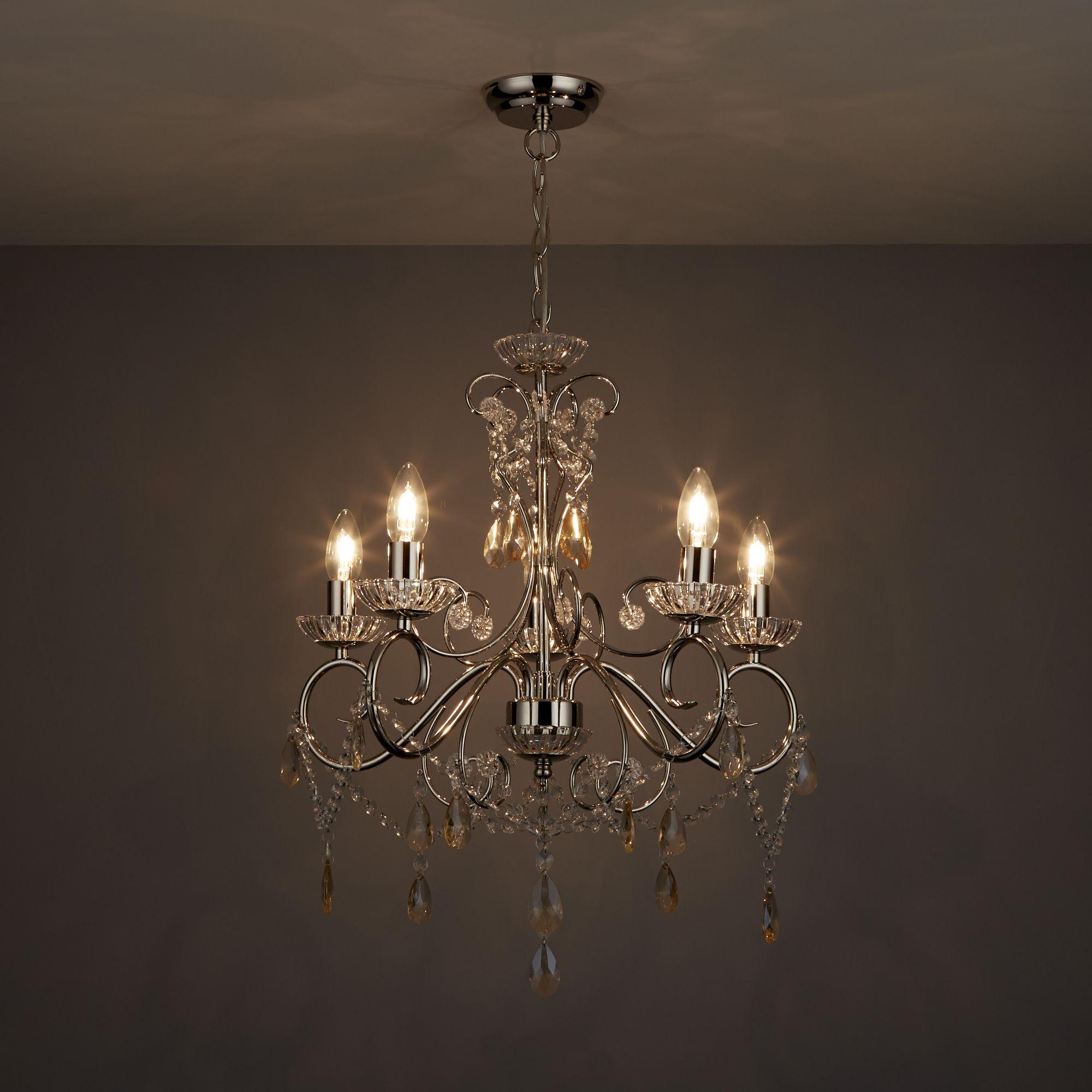 Chandelier Lighting B Q: Chesworth Nickel Effect 5 Lamp Pendant Ceiling Light