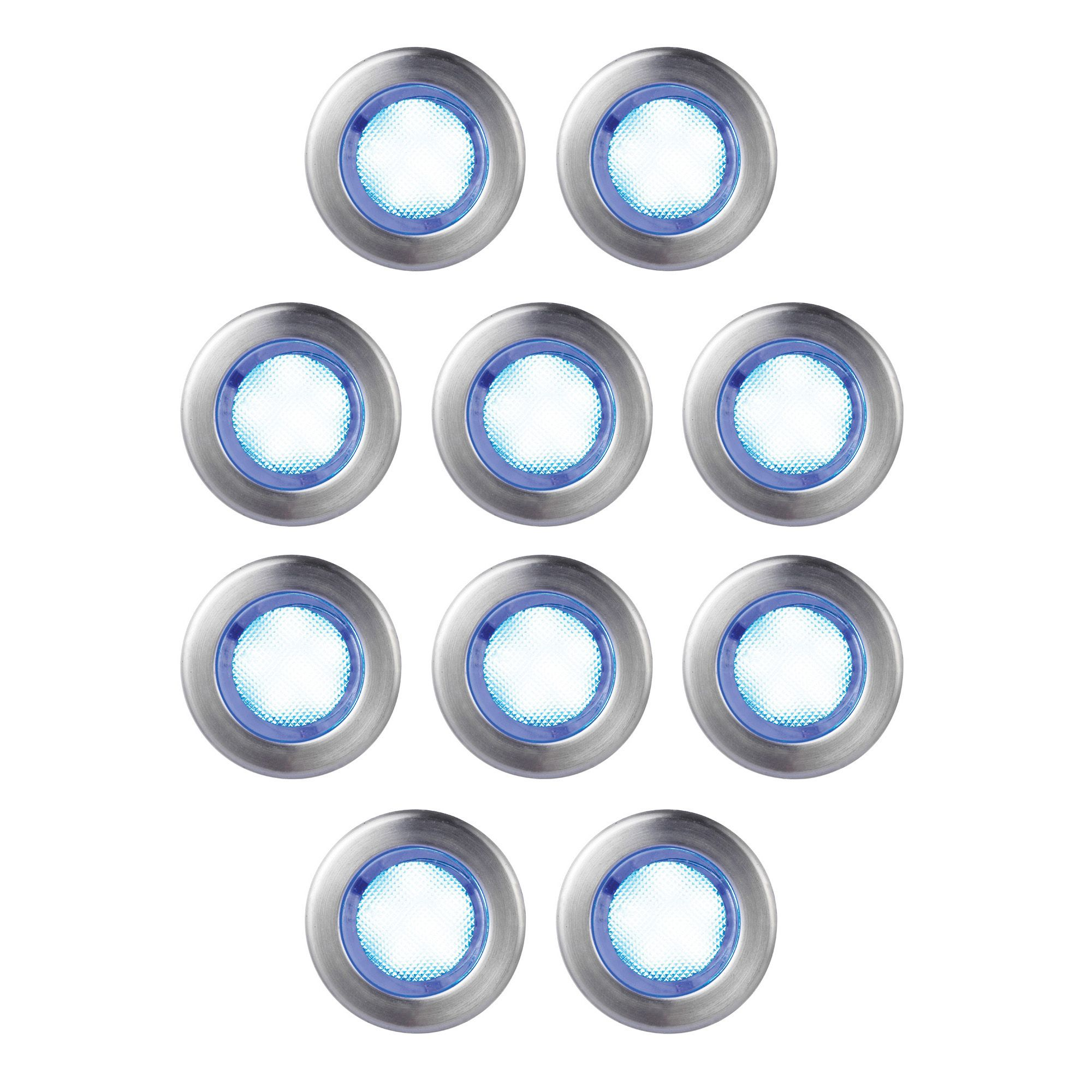 Blooma Absolus Blue LED Deck Lighting Kit Pack Of 10 Departments DIY At