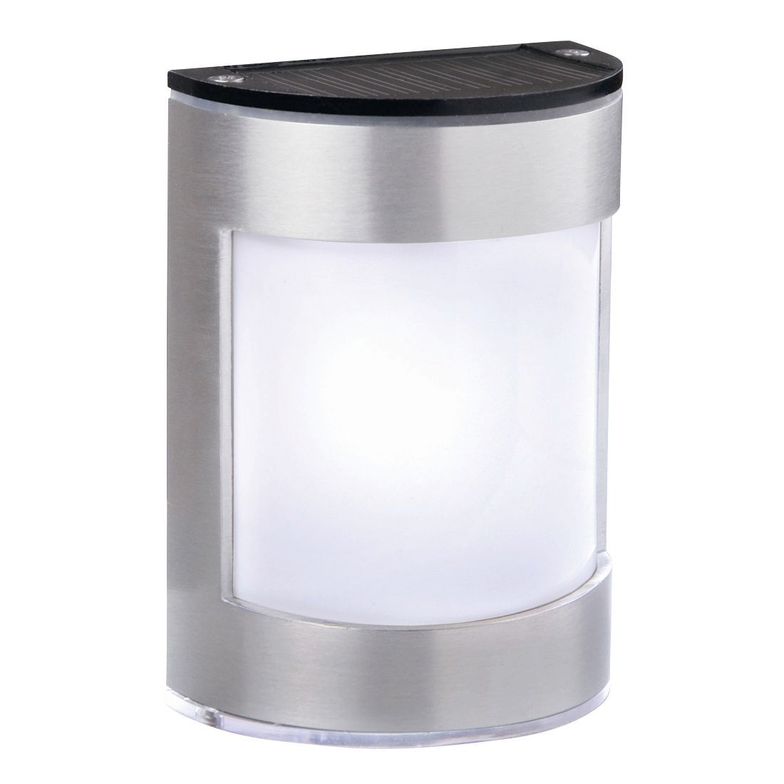 Blooma Alhena Silver Nickel Effect Solar Powered Led Wall Light