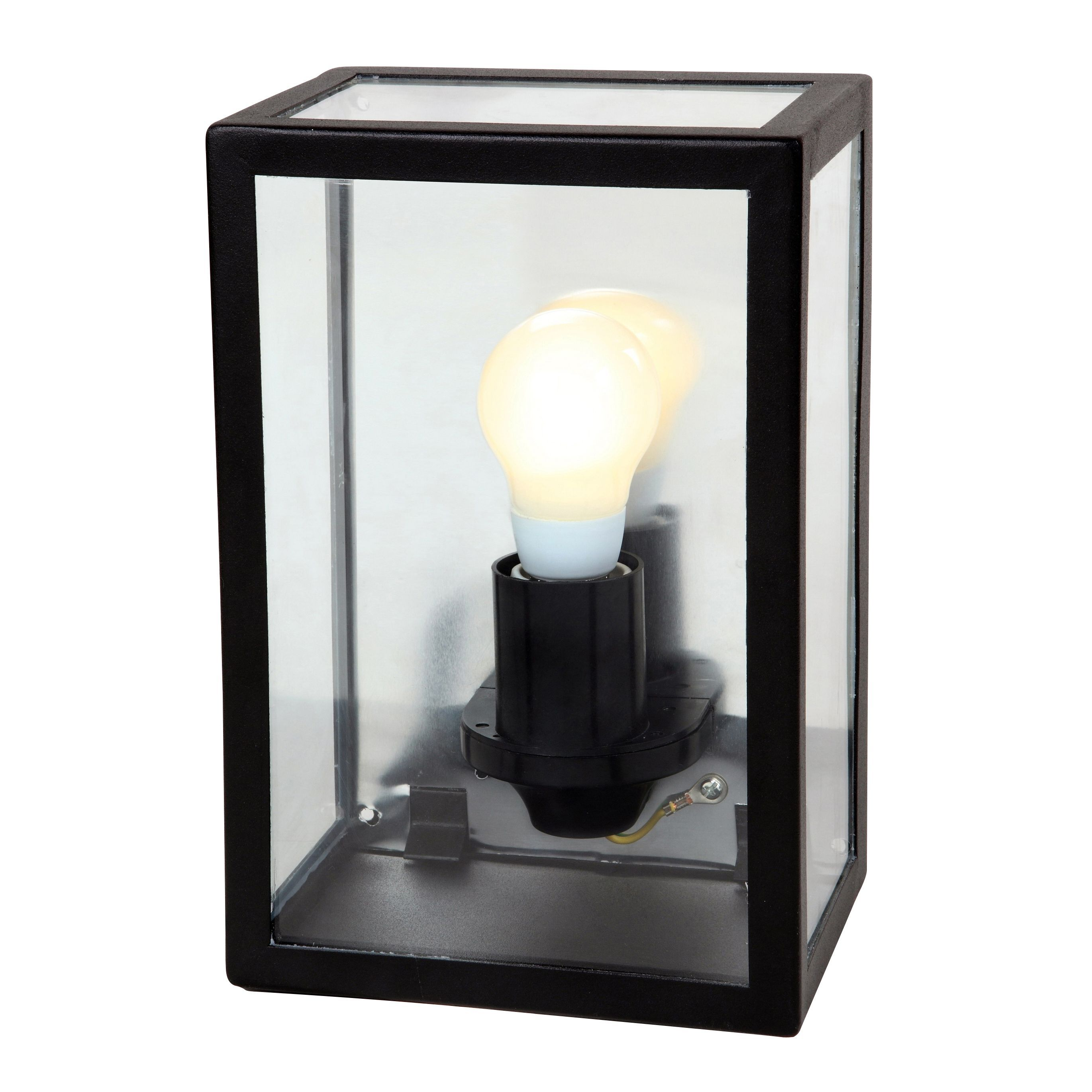 Blooma gallina black mains powered external wall light for Diy wall lighting