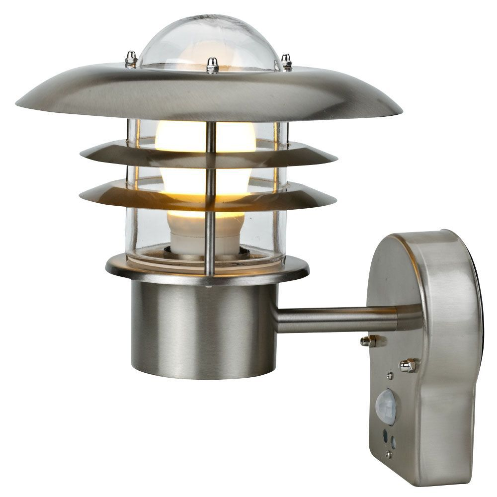 Blooma Minos Chrome Effect 60W Mains Powered External Pir Wall Light Departments TradePoint