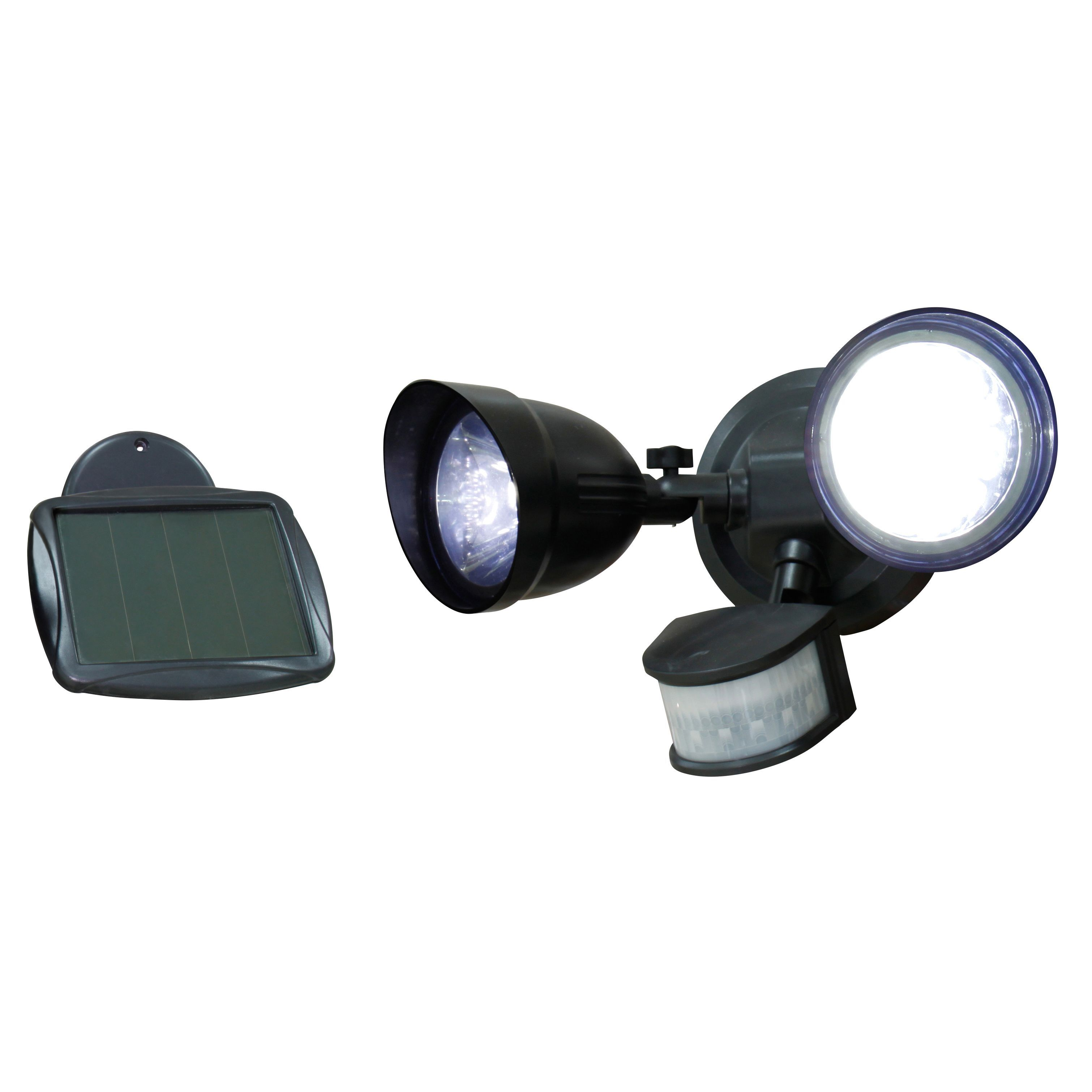 Diy at bq blooma anza black 216w solar powered external sensor twin spotlight aloadofball Choice Image