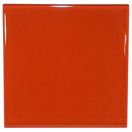 Orange Glass Border Tile, (L)98mm (W)98mm