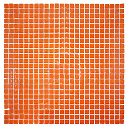 Orange Glass Mosaic Tile, (L)300mm (W)300mm